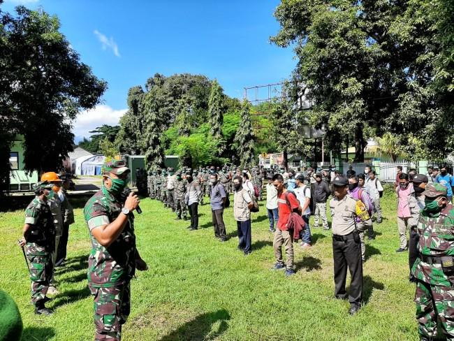 Danrem 162/WB Ingatkan Fasilitator TNI-Polri dan Sipil KLU Amankan Diri Dari Covid-19