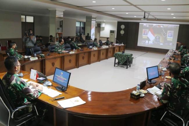 Pangdam Laporkan Peran dan Keterlibatan TNI dalam Penanganan Covid-19 Kepada Panglima TNI