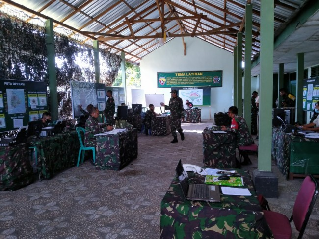Wilayah Teritorialnya Rawan Bencana, Kodim Karangasem Laksanakan Latihan Posko I