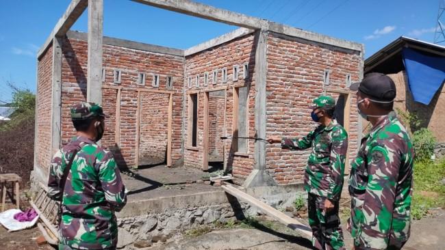 Dandim 1615/Lotim Cek Progres Rehab Rekon di Wilayah Sambelia