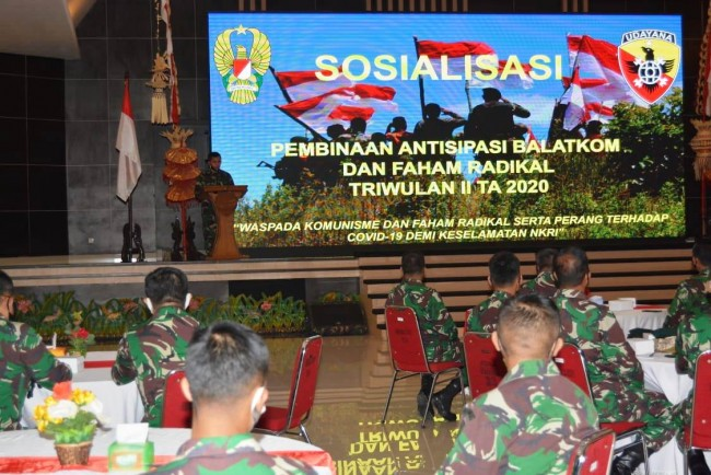 Antisipasi Balatkom dan Paham Radikal, Kodam IX/Udayana Gelar Sosialisasi
