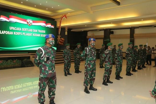 Pangdam Pimpin Sertijab dan Laporan Korps 16 Pejabat Utama Kodam IX/Udayana