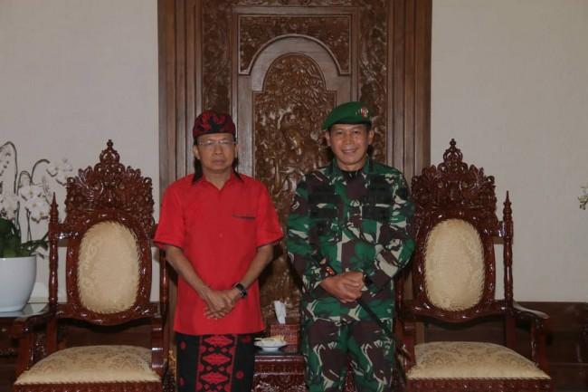 Kunjungan Silaturahmi Pangdam IX/Udayana ke Kapolda dan Gubernur Bali
