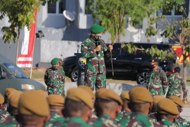 Pangkoops Pamtas RI-RDTL Terima Kedatangan Satgaspur Yonarmed 3/NP, Satgas Intel dan Satgas Bant Ops