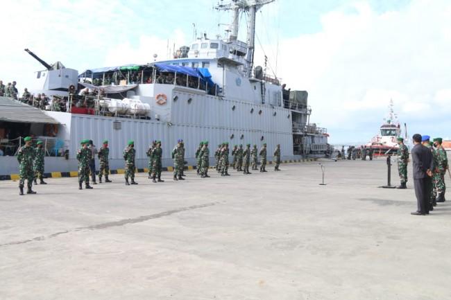 Tergabung Dalam Satgas Intelijen dan Satgas Bantuan Pamtas RI-RDTL, 32 Prajurit Kembali ke Home Base