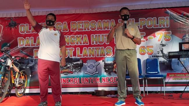 TNI-Pori di Lotim Gelar Olahraga Bersama, Ini Kata Dandim 1615/Lotim