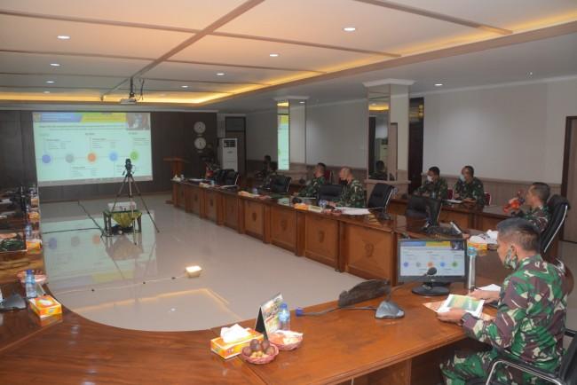 Bahas Prosedur RS dalam Upaya Penanganan Covid-19, Pangdam IX/Udayana Vidcon dengan Menko Marves RI