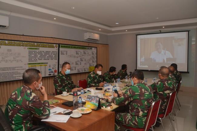 Dipimpin Menko Marves, Kasdam IX/Udayana Ikuti Rakor tentang Targeted Testing dan Tracing Covid-19