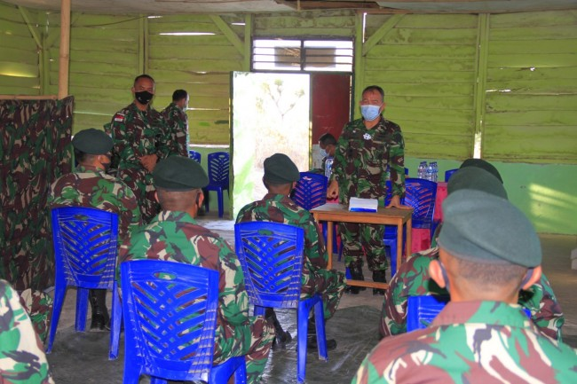 Kunjungan Kerja Tim Itjen TNI Ke Satgas Pamtas RI-RDTL Sektor Timur