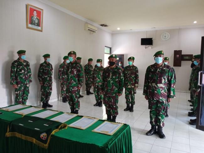 Dandim Jembrana Pimpin Serah Terima Jabatan Danramil dan Perwira Staf