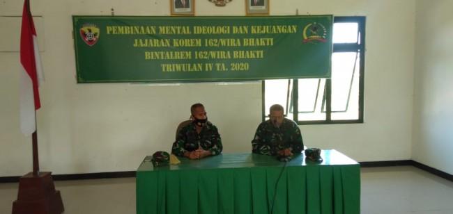 Personil Kodim 1628/Sumbawa Barat Mengikuti Kegiatan Pembinaan Mental Ideologi dan Kejuangan