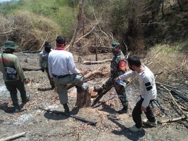 Lindungi Kawasan Hutan Sumbawa, Babinsa Bersama Babinkamtibmas Dan KPH Patroli Gabungan