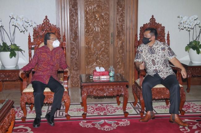 Selaku Forkopimda Bali, Pangdam IX/Udayana Awali Silaturahmi ke Gubernur Bali