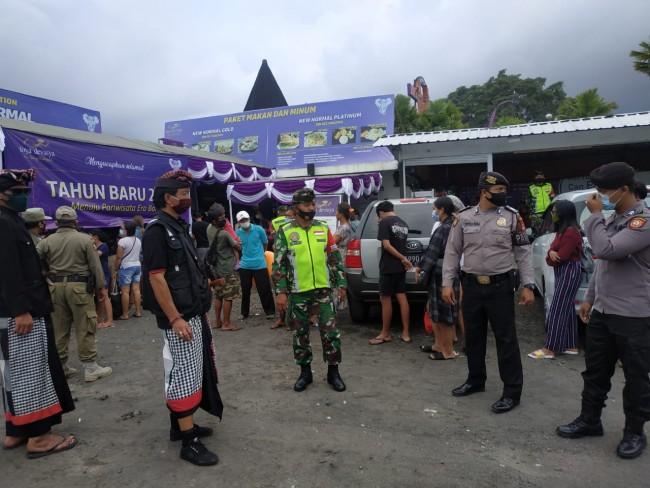 Libur Tahun Baru, Satgas Enforce Kodim Bangli Sidak Tempat Wisata