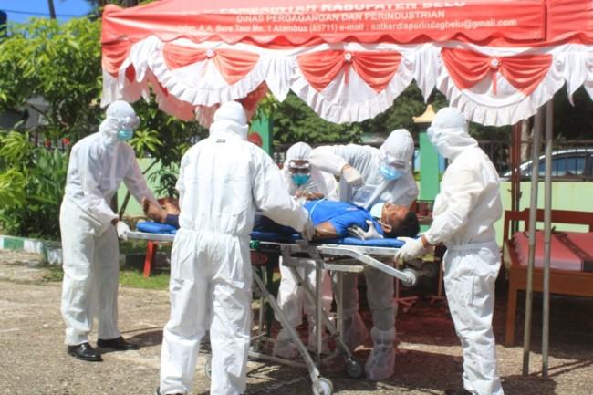 Rumkit Tk. IV Atambua Bersama TNI dan Dinkes Belu Menggelar Simulasi Vaksinasi Covid-19