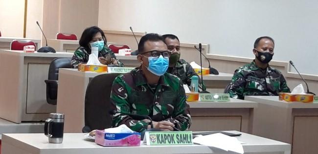Kapok Sahli Pangdam IX/Udayana Ikuti Rakor Satgas Penanganan Covid-19 Bahas Pelaksanaan PPKM