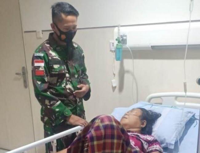 Kepedulian TNI di Perbatasan, TNI Donorkan Darah Untuk Penderita Ginjal