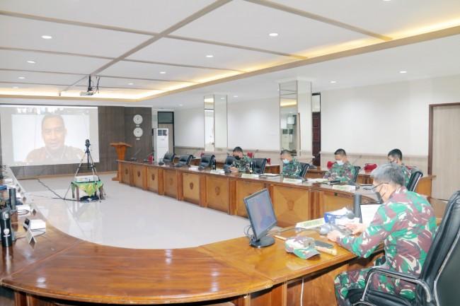 Mewakili Pangdam, Danrem Ikuti Rakor Penindakan Pelanggaran Protokol Kesehatan di Provinsi Bali