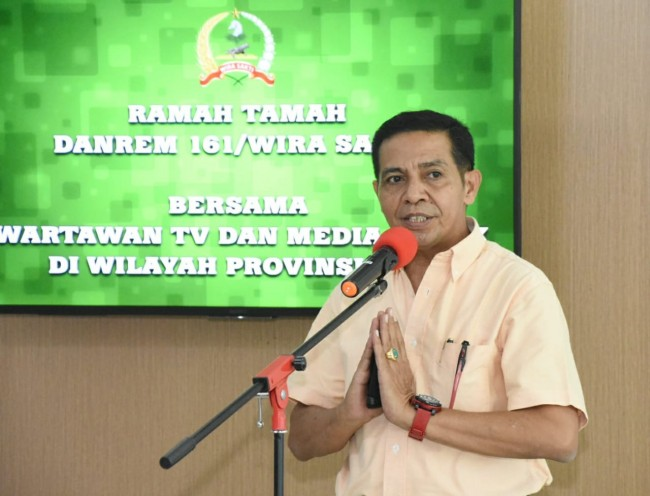 Ramah Tamah Danrem 161/Wira Sakti bersama Wartawan TV dan Media Cetak