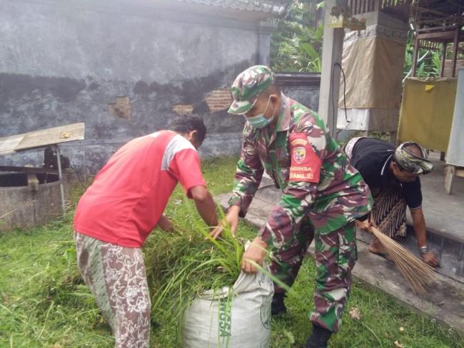 Karya Bakti dan Penyemprotan Desinfektan, Kelian Adat Desa Candikusuma Ucapkan Terima Kasih