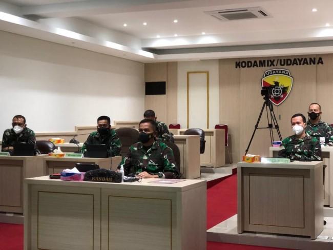 Kasdam IX/Udayana Ikuti Rakor Antisipasi Pulangnya PMI, Operasi Penanganan Covid-19 dan PPKM Mikro