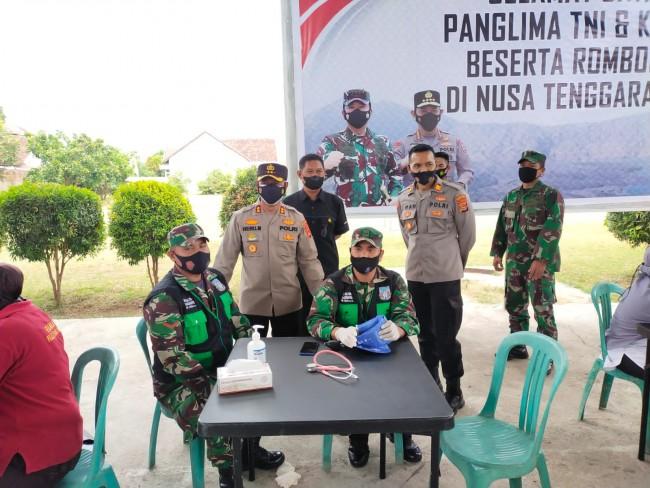 Serbuan Vaksin Covid-19 di KSB Sinergi TNI/PolriPemda Sasar Sekolah-sekolah