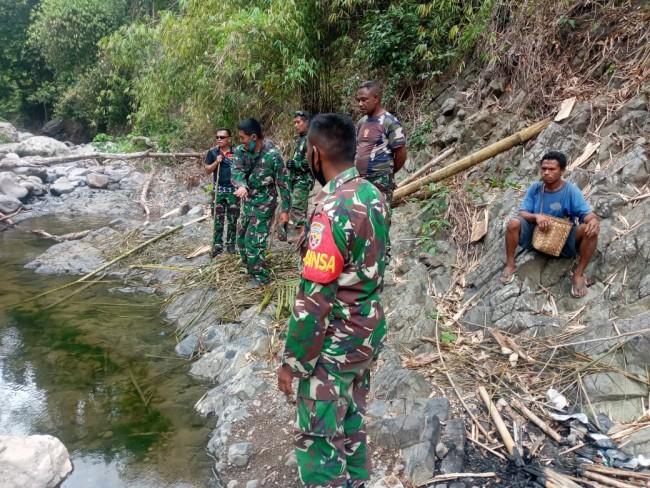 Dandim Alor Tinjau Pompa Hidram, Kades : Terima Kasih TNI AD