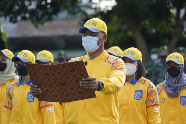 Kontingen Tinju NTB Dilepas Dengan Upacara Militer Menuju PON XX Papua