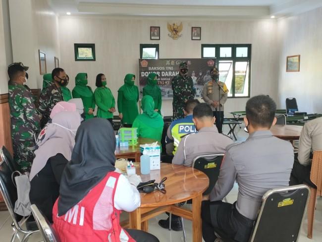 Sambut HUT TNI ke 76, Kodim 1628/SB Gelar Bhakti Sosial Donor Darah