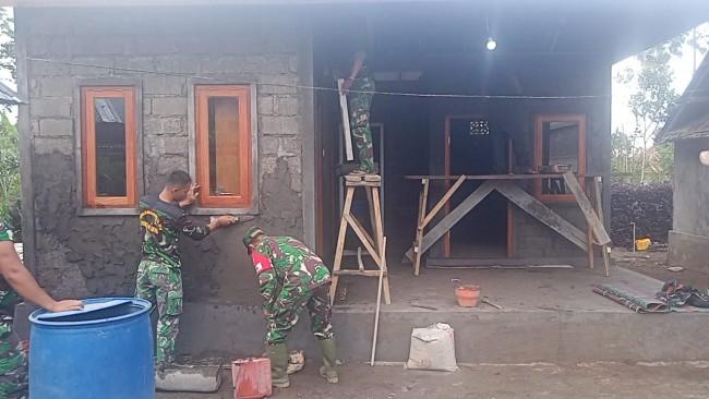 Sasaran Tambahan Bedah Rumah TMMD ke 112 di Desa Pengotan Semakin Sempurna Terlihat