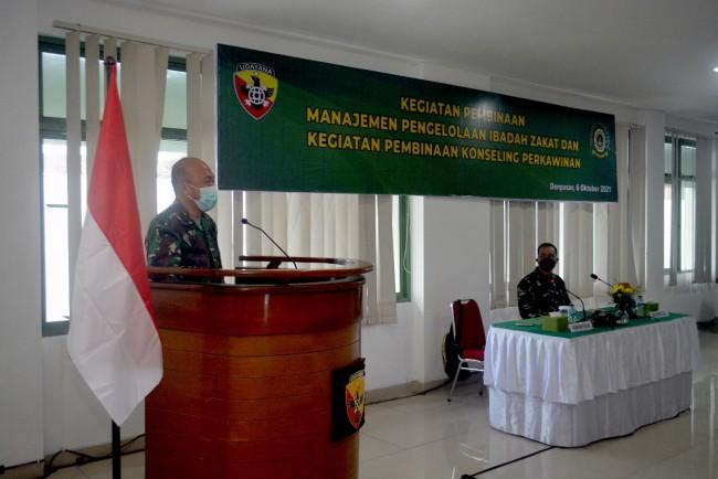 Kodam IX/Udayana Gelar Kegiatan Pembinaan Manajemen Pengelolaan Zakat dan Konseling Perkawinan