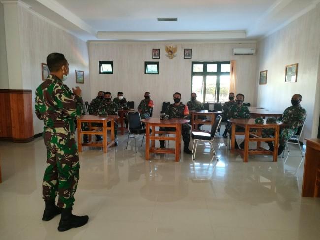 Kodim 1628/SB Berikan Pembekalan Jurnalistik Kepada Personil Koramil Jajaranya