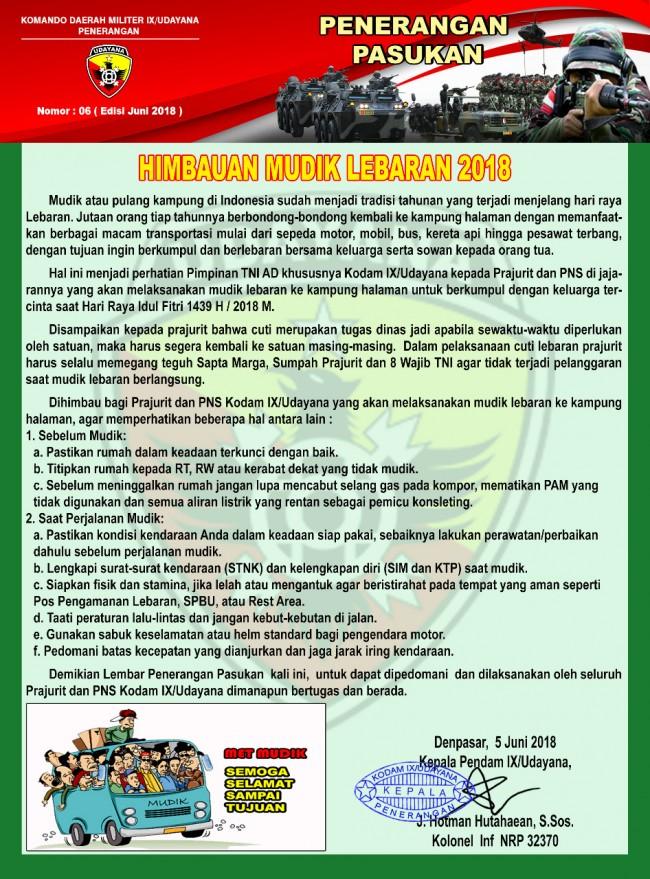 Himbauan Mudik Lebaran 2018