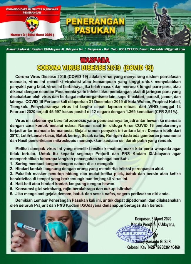 Waspada Corona Virus Disease 2019 (Covid-19)