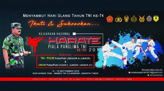 Kejuaraan Nasional Karate Piala Panglima TNI ke VII 2019