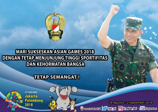 Mari Sukseskan Asian Games 2018 Dengan Tetap Menjunjung Tinggi Sportifitas dan Kehormatan Bangsa