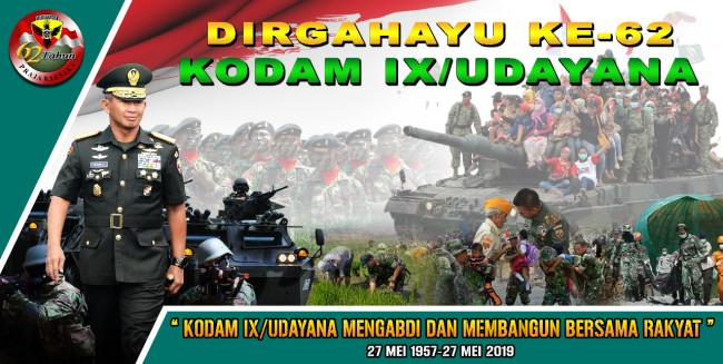 DIRGAHAYU KE 62 KODAM IX/UDAYANA