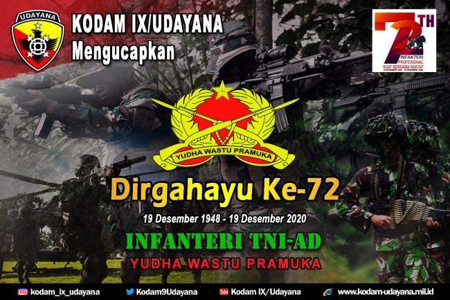 DIRGAHAYU KE 72 INFANTERI TNI AD